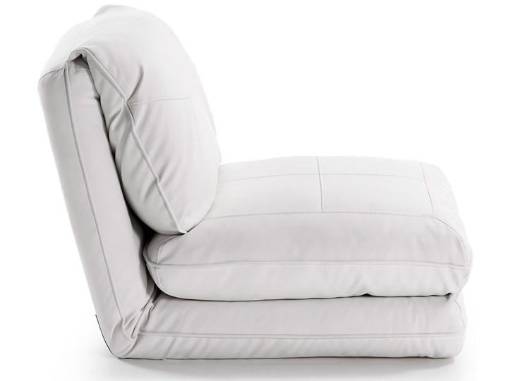 Fotel rozkładany Moss 78x66 cm biały ekoskóra Szerokość 78 cm Tkanina Skóra ekologiczna Metal Wysokość 78 cm Styl Nowoczesny Kategoria Fotele do salonu
