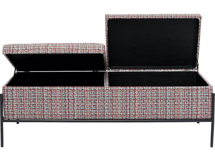 Ławka ze schowkiem Buttons Storage Colore 120x43 cm kolorowa Kolor Wielokolorowy