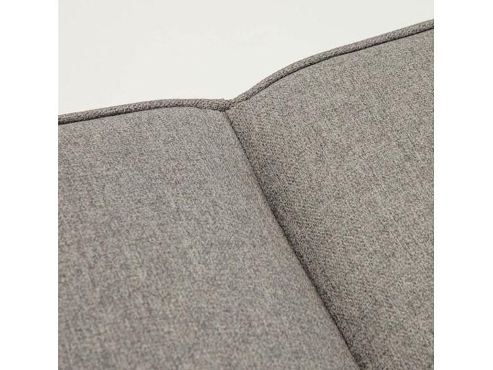 Rozkladana sofa i szezlong Nelki w kolorze szarym Stała konstrukcja Wielkość Czteroosobowa