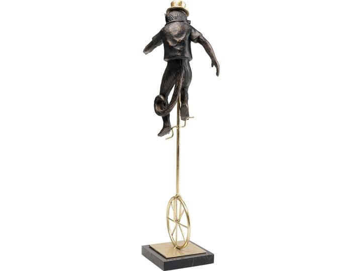 Figurka dekoracyjna Circus Monkey 14x48 cm złota Metal Tworzywo sztuczne Marmur Kategoria Figury i rzeźby