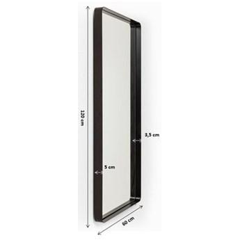 Lustro wiszące Shadow Soft 120x60 cm czarne