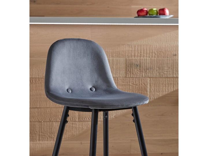 Hoker Nilson 47x101 cm ciemnoszary Hoker tapicerowany Pomieszczenie Kuchnia Hoker z oparciem Kategoria Krzesła kuchenne