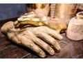Figurka dekoracyjna Mano 23x35 cm brązowa Kategoria Figury i rzeźby Kolor Brązowy