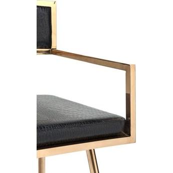 Krzesło z podłokietnikami Jazz 49x81 cm czarno-miedziane