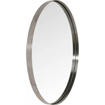 Lustro wiszące Curve Round ∅100 cm szare