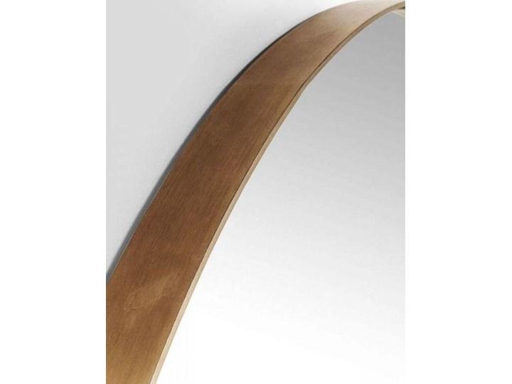 Lustro wiszące Curve Round ∅100 cm miedziane Pomieszczenie Przedpokój Okrągłe Lustro z ramą Ścienne Pomieszczenie Salon