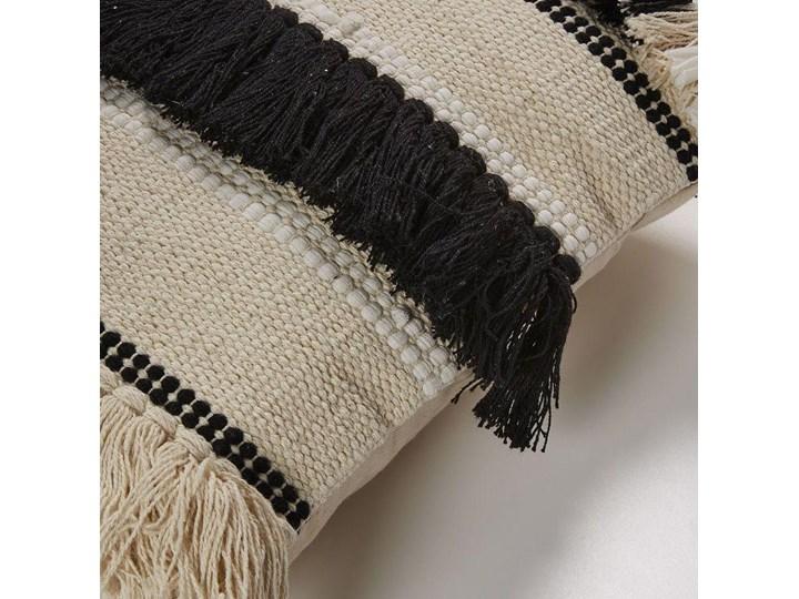 Poszewka na poduszkę Fosse 45x45 cm biało-czarna Kwadratowe Poszewka dekoracyjna Kolor Czarny