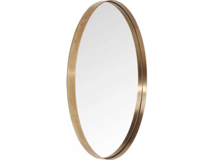 Lustro wiszące Curve Round ∅100 cm miedziane Ścienne Lustro z ramą Okrągłe Pomieszczenie Sypialnia