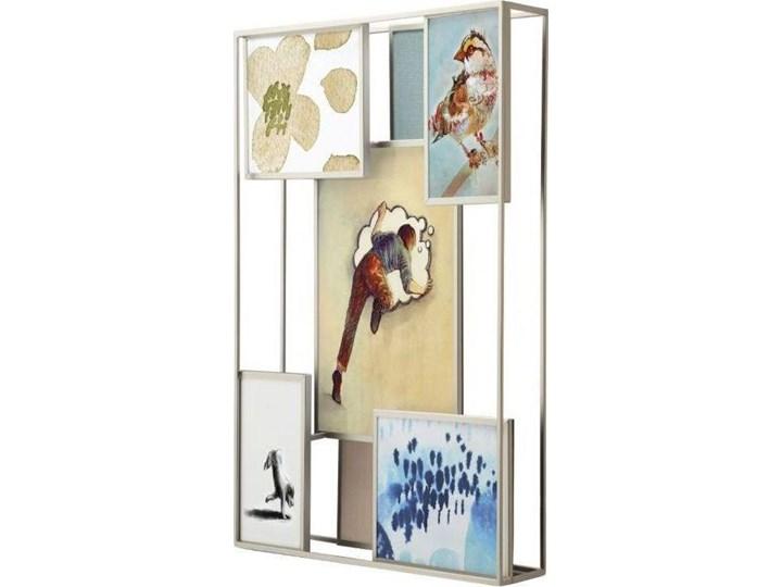 Ramka na zdjęcia Matrix 38x45 cm srebrna Kolor Srebrny Metal Multiramka Pomieszczenie Sypialnia