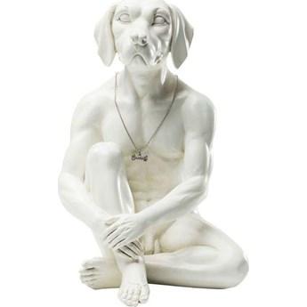 Figurka dekoracyjna Gangster Dog 26x33 cm kremowa
