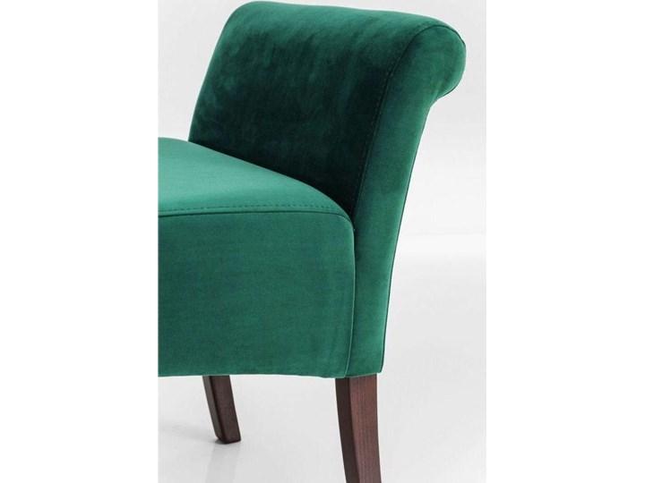 Ławka Motley Velvet 110x61 cm zielona Pomieszczenie Sypialnia Z podłokietnikiem Materiał obicia Tkanina