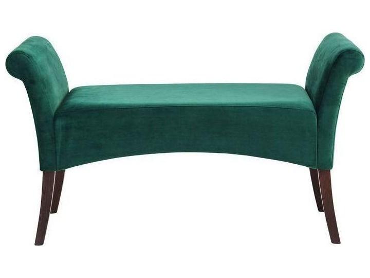 Ławka Motley Velvet 110x61 cm zielona Pomieszczenie Salon Z podłokietnikiem Pomieszczenie Sypialnia