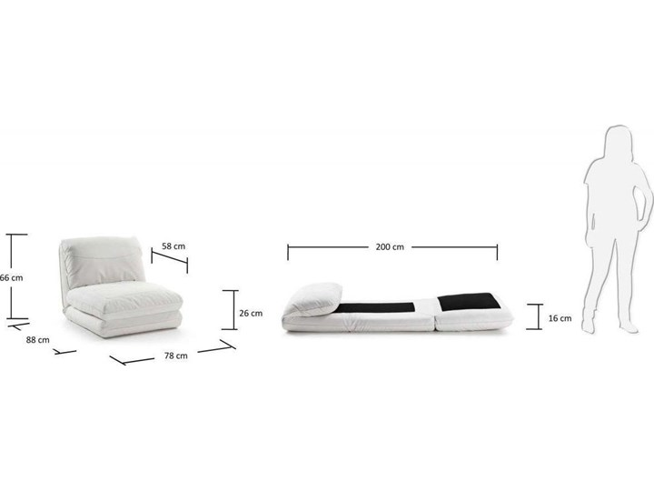 Fotel rozkładany Moss 78x66 cm biały ekoskóra Wysokość 78 cm Skóra ekologiczna Szerokość 78 cm Tkanina Metal Kategoria Fotele do salonu