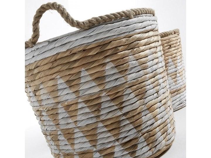 Kosze na pranie Maja Triangle naturalno-białe (2-set) Wiklina Kolor Brązowy