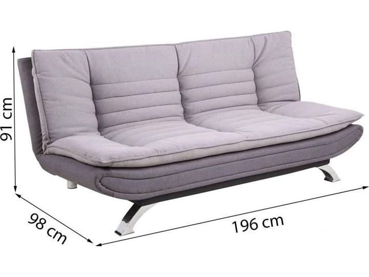 Sofa rozkładana Eveline 196x98-123 cm szara / ciemnoszara Głębokość 98 cm Stała konstrukcja Pomieszczenie Salon