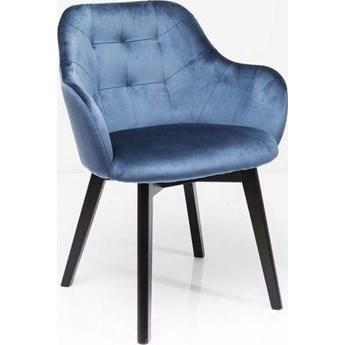 Krzesło z podłokietnikami Lady Velvet Stitch 61x83 cm niebieskie