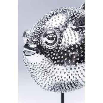 Figurka dekoracyjna Blowfish 24x29 cm srebrna