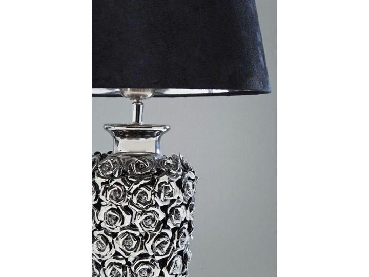 Lampa stołowa Rose Multi 33x56 cm czarno-srebrna Styl Nowoczesny