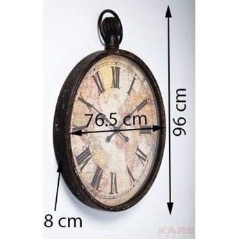 Zegar wiszący European Map 96x77 cm kolorowy