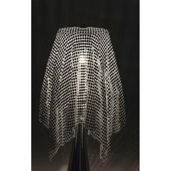 Klosz do lampy Glamour 14x13 cm srebrny