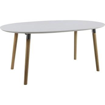 Stół rozkładany Earlywine 170-270x100 cm owalny biały
