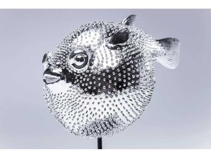 Figurka dekoracyjna Blowfish 24x29 cm srebrna Ryby Kategoria Figury i rzeźby