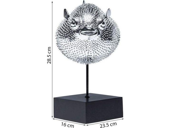 Figurka dekoracyjna Blowfish 24x29 cm srebrna Kategoria Figury i rzeźby Ryby Kolor Szary