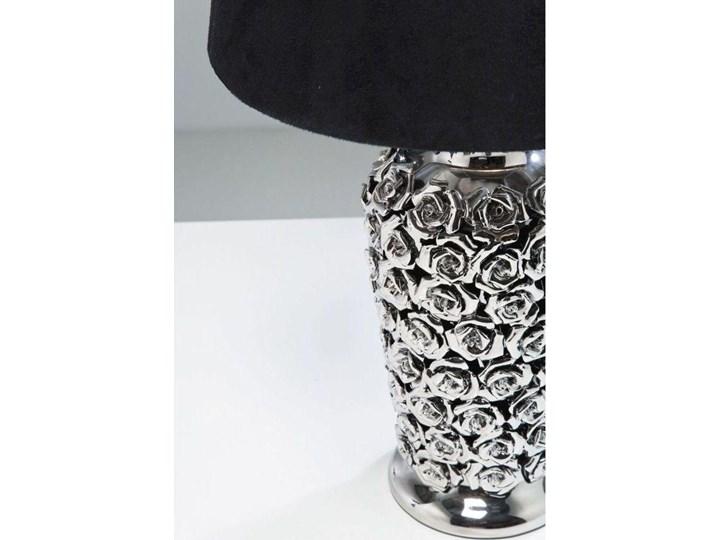 Lampa stołowa Rose Multi 33x56 cm czarno-srebrna Styl Klasyczny