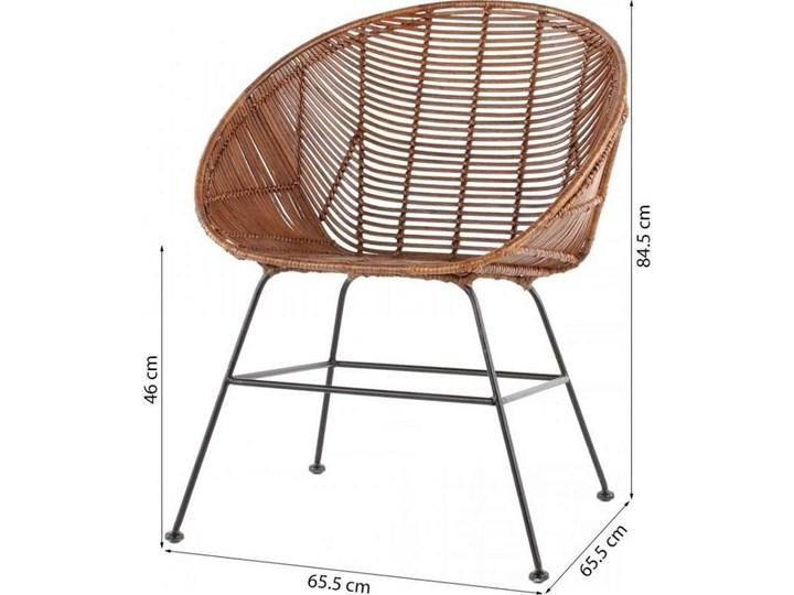 Krzesło Retro 66x85 cm Pomieszczenie Jadalnia Kolor Brązowy