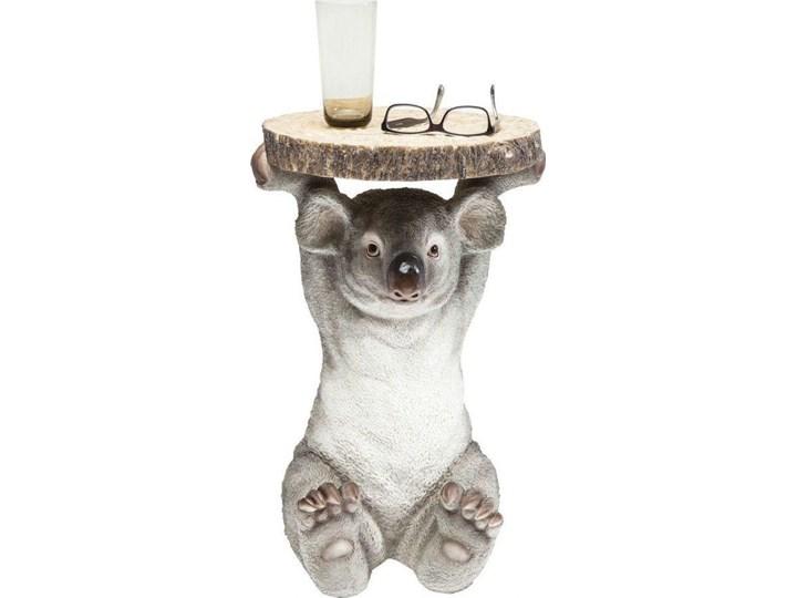 Stolik kawowy Koala Ø33 cm kolorowy Tworzywo sztuczne Kategoria Stoliki i ławy Drewno Kolor Szary