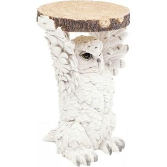 Stolik kawowy Animal Owl 35x33 cm biały