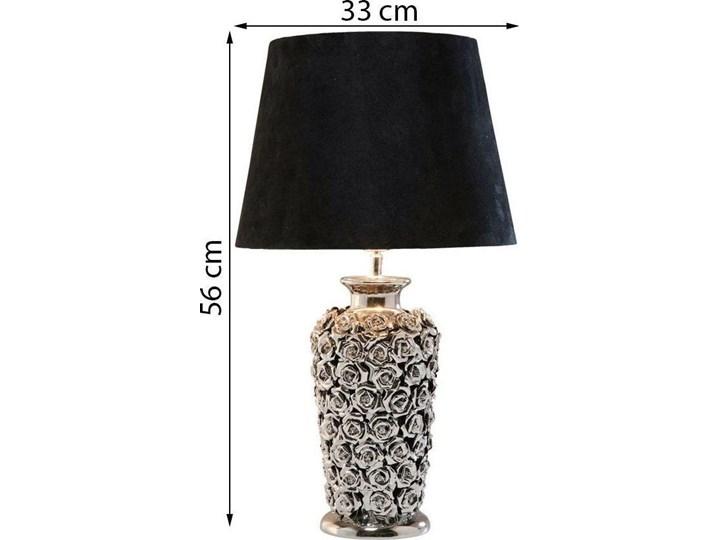 Lampa stołowa Rose Multi 33x56 cm czarno-srebrna Kolor Czarny Styl Klasyczny