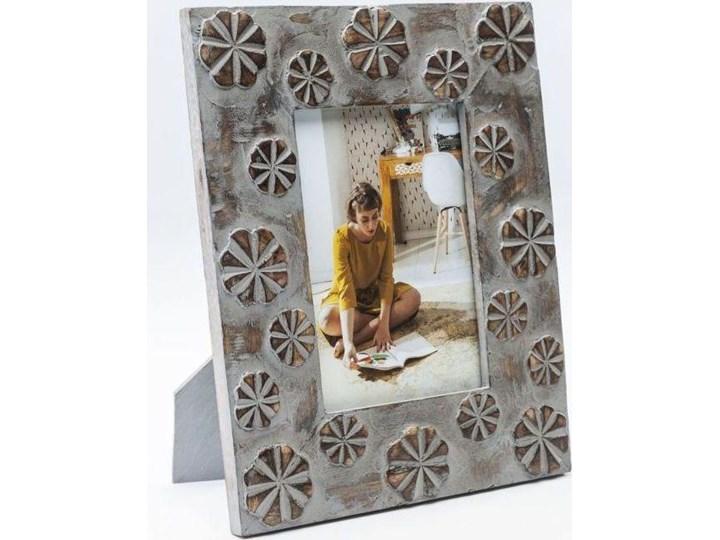 Ramka Mystic Flowers 22x27 cm szaro-złota Pomieszczenie Salon