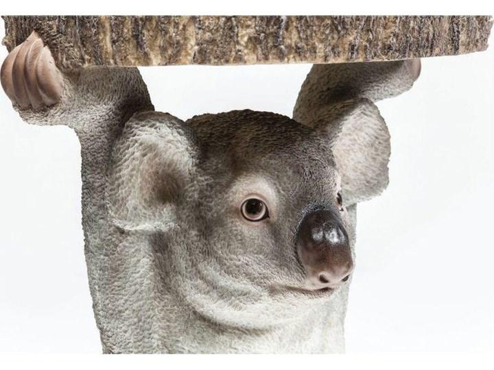 Stolik kawowy Koala Ø33 cm kolorowy Drewno Kategoria Stoliki i ławy Tworzywo sztuczne Kolor Szary