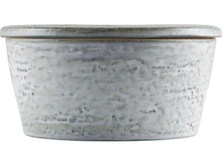 Pojemnik z pokrywką Rustic 14x7 cm szaroniebieski Ceramika Typ Pojemniki Żaroodporny Kategoria Pojemniki i puszki