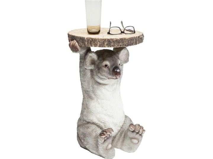 Stolik kawowy Koala Ø33 cm kolorowy Kształt blatu Okrągłe Tworzywo sztuczne Drewno Kategoria Stoliki i ławy