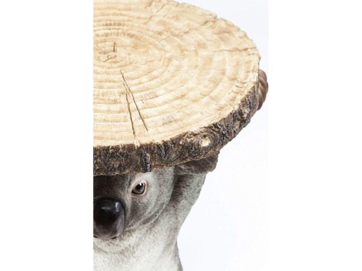 Stolik kawowy Koala Ø33 cm kolorowy Drewno Kształt blatu Okrągłe Tworzywo sztuczne Kolor Beżowy