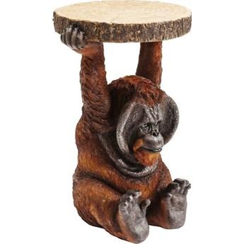 Stolik kawowy Animal Orang Utan 35x52 cm kolorowy