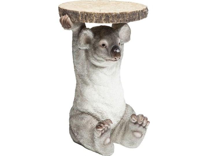 Stolik kawowy Koala Ø33 cm kolorowy Tworzywo sztuczne Drewno Kolor Szary