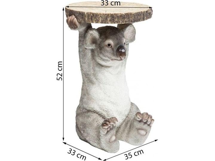 Stolik kawowy Koala Ø33 cm kolorowy Tworzywo sztuczne Kolor Szary Drewno Kategoria Stoliki i ławy