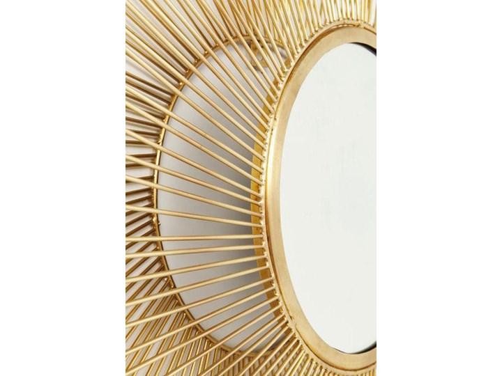 Lustro wiszące El Sol Gold Ø79 cm złote Okrągłe Lustro z ramą Ścienne Pomieszczenie Salon Kolor Złoty