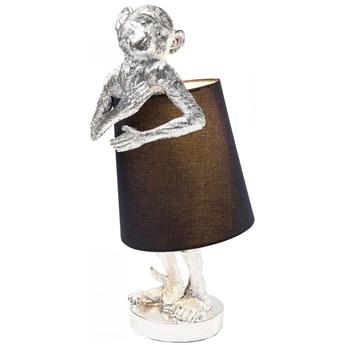 Lampa stołowa Animal Monkey 23x56 cm srebrna