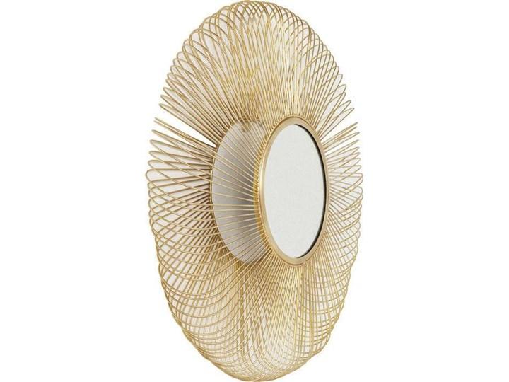 Lustro wiszące El Sol Gold Ø79 cm złote Pomieszczenie Salon Lustro z ramą Okrągłe Ścienne Kategoria Lustra