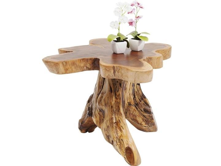Stolik kawowy Tree 50x50 cm drewniany Kształt blatu Drewno Kolor Beżowy