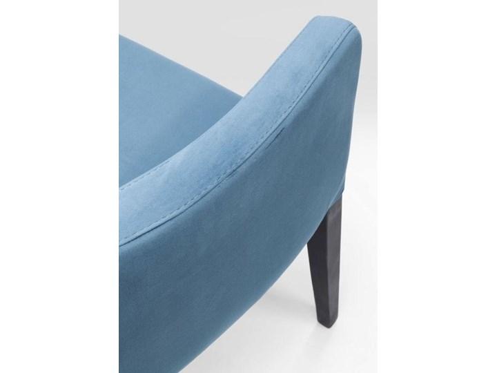 Krzesło z podłokietnikami Mode Velvet 60x87 cm turkusowe