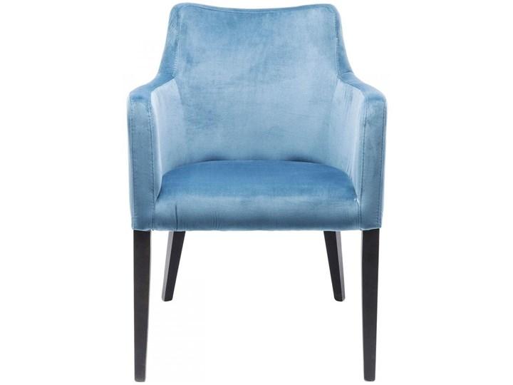 Krzesło z podłokietnikami Mode Velvet 60x87 cm turkusowe Welur Wysokość 60 cm Szerokość 60 cm Głębokość 70 cm Wysokość 70 cm Tapicerowane Z podłokietnikiem Drewno Tkanina Kolor