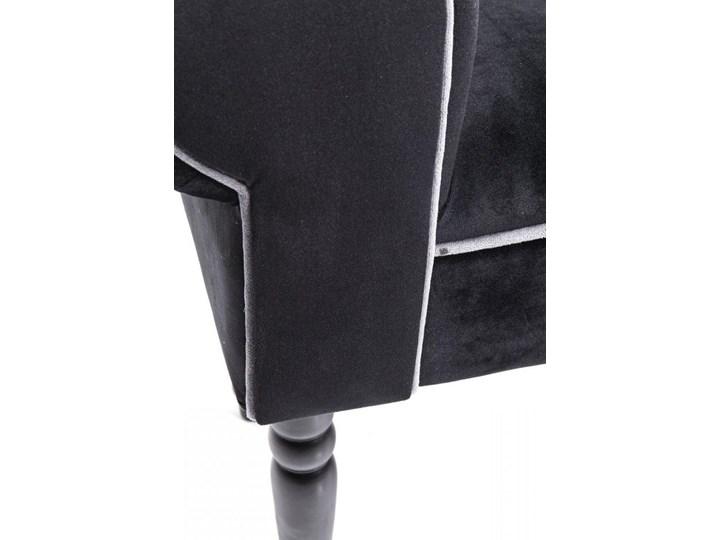 Ławka Wing Blossom 100x54 cm czarna Styl Awangardowy Kolor Czarny