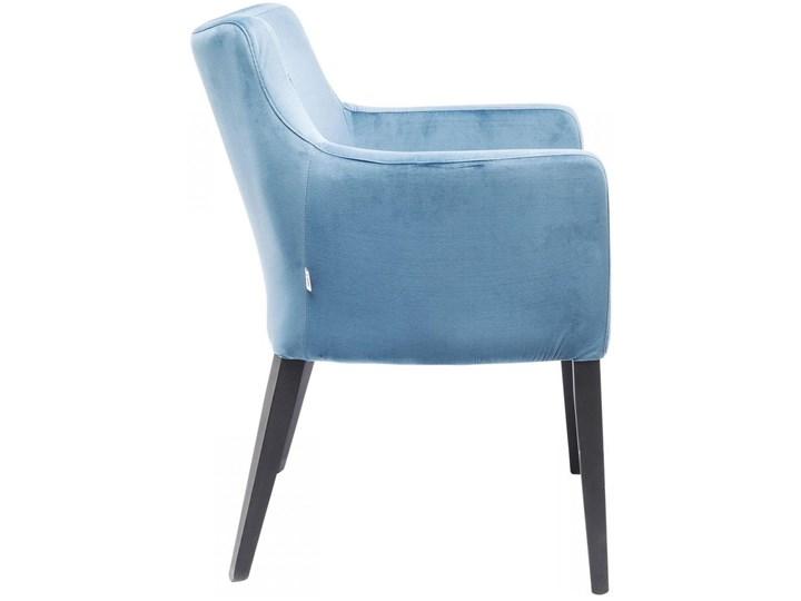 Krzesło z podłokietnikami Mode Velvet 60x87 cm turkusowe Tkanina Szerokość 60 cm Z podłokietnikiem Tapicerowane Wysokość 60 cm Drewno Wysokość 70 cm Głębokość 70 cm Welur Pomieszczenie Biuro i pracownia