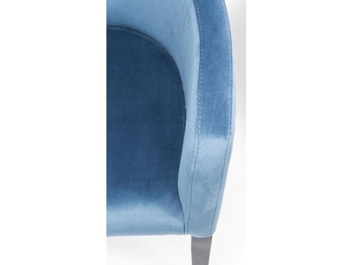 Krzesło z podłokietnikami Mode Velvet 60x87 cm turkusowe Tkanina Drewno Welur Wysokość 70 cm Wysokość 60 cm Szerokość 60 cm Głębokość 70 cm Tapicerowane Z podłokietnikiem Styl Nowoczesny