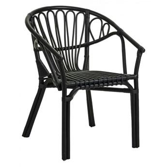 Krzesło Ganga czarne rattanowe